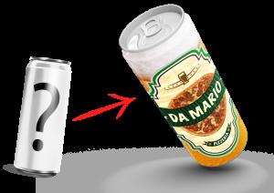 Lattina di birra personalizzabile